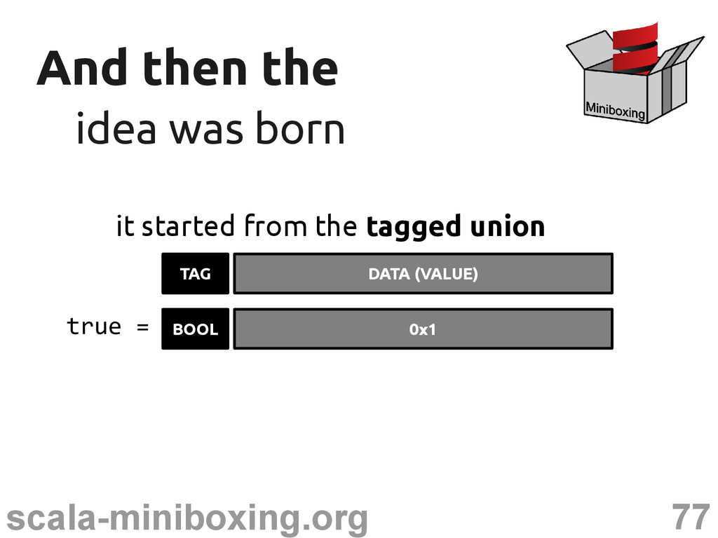 77 scala-miniboxing.org And then the And then t...