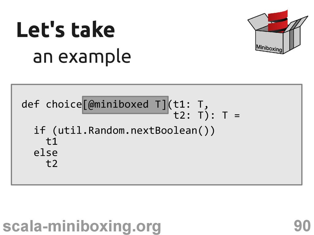 90 scala-miniboxing.org Let's take Let's take a...