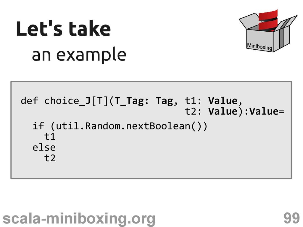 99 scala-miniboxing.org Let's take Let's take a...