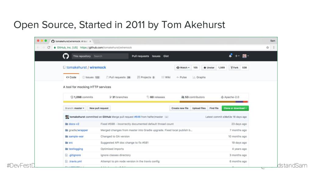 @HandstandSam #DevFestDC Open Source, Started i...