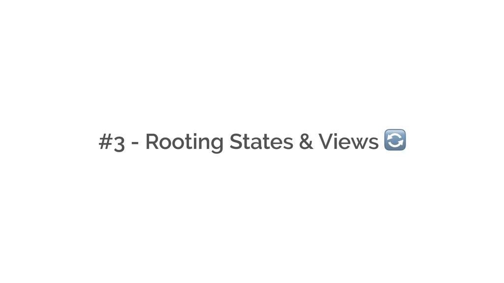 #3 - Rooting States & Views