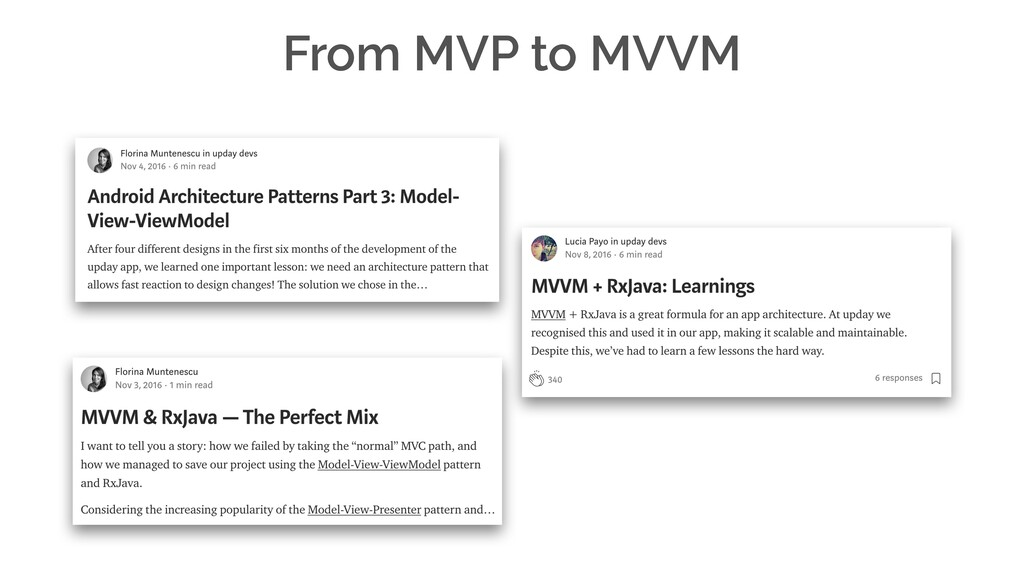From MVP to MVVM