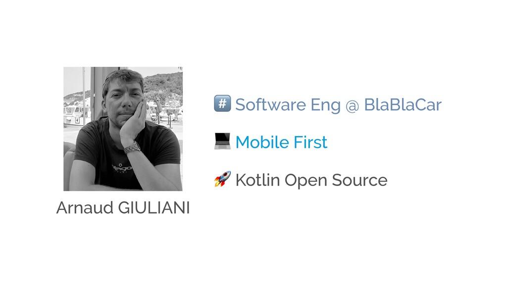 ! Software Eng @ BlaBlaCar  Mobile First  Kotli...