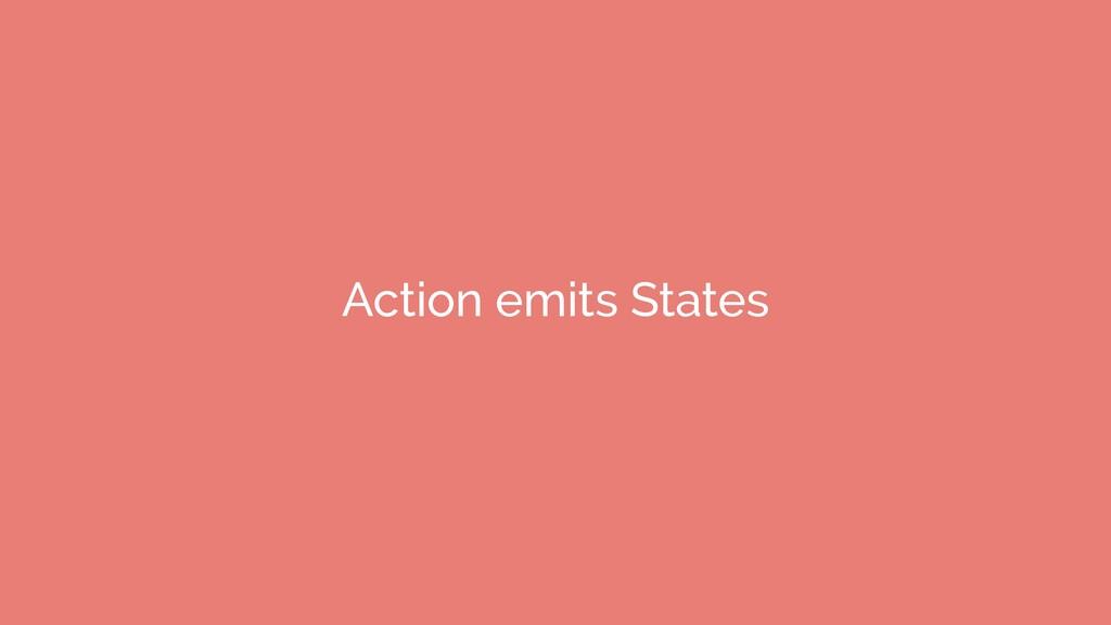 Action emits States