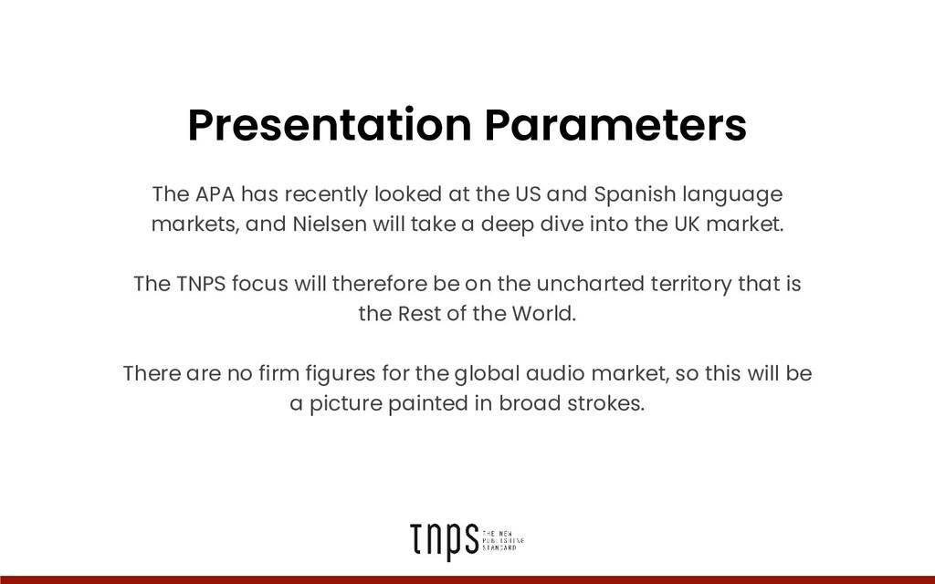 Presentation Parameters The APA has recently lo...
