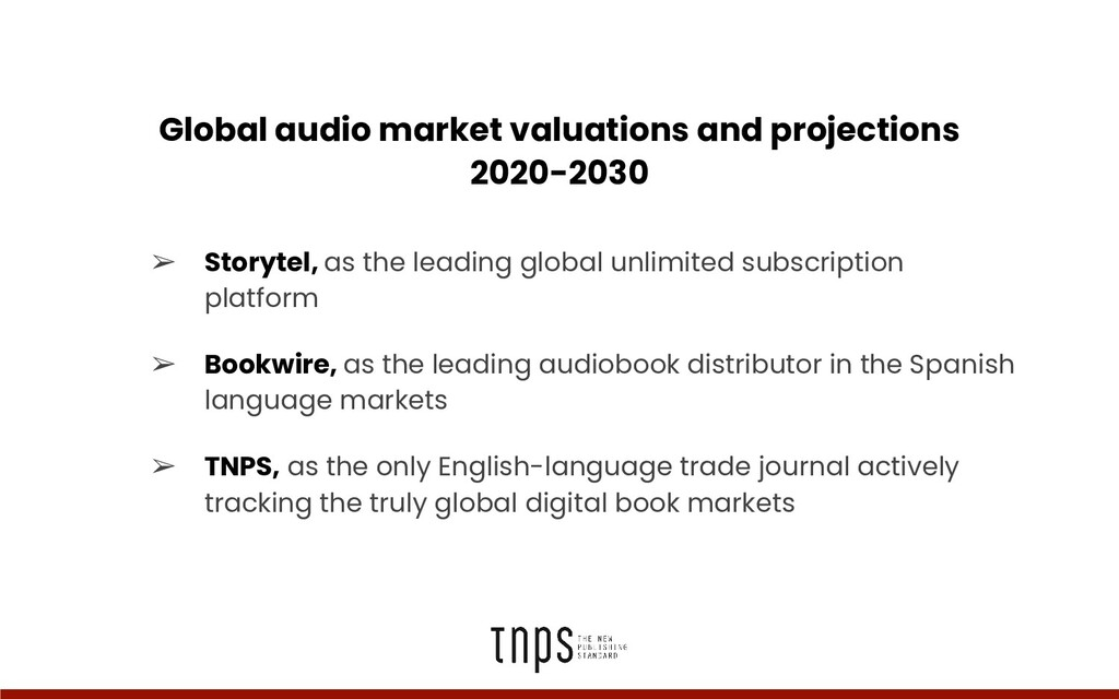 Global audio market valuations and projections ...