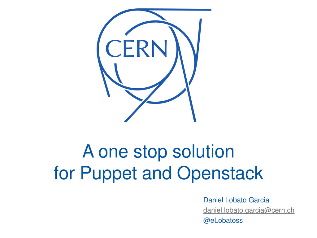 A one stop solution for Puppet and Openstack Da...