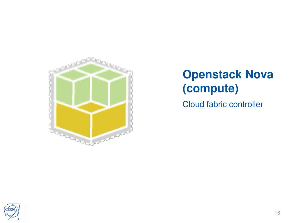 Openstack Nova (compute) Cloud fabric controlle...