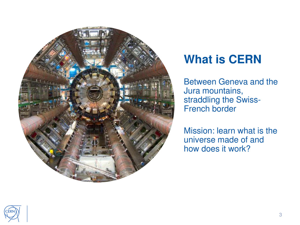 What is CERN Between Geneva and the Jura mounta...