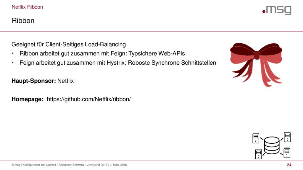 Netflix Ribbon Ribbon © msg | Konfiguration zur...