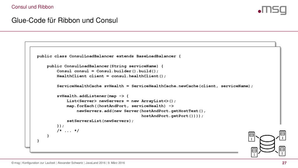 Consul und Ribbon Glue-Code für Ribbon und Cons...