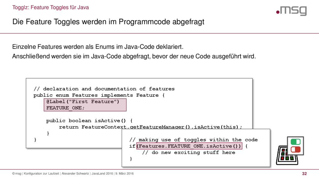 Togglz: Feature Toggles für Java Die Feature To...