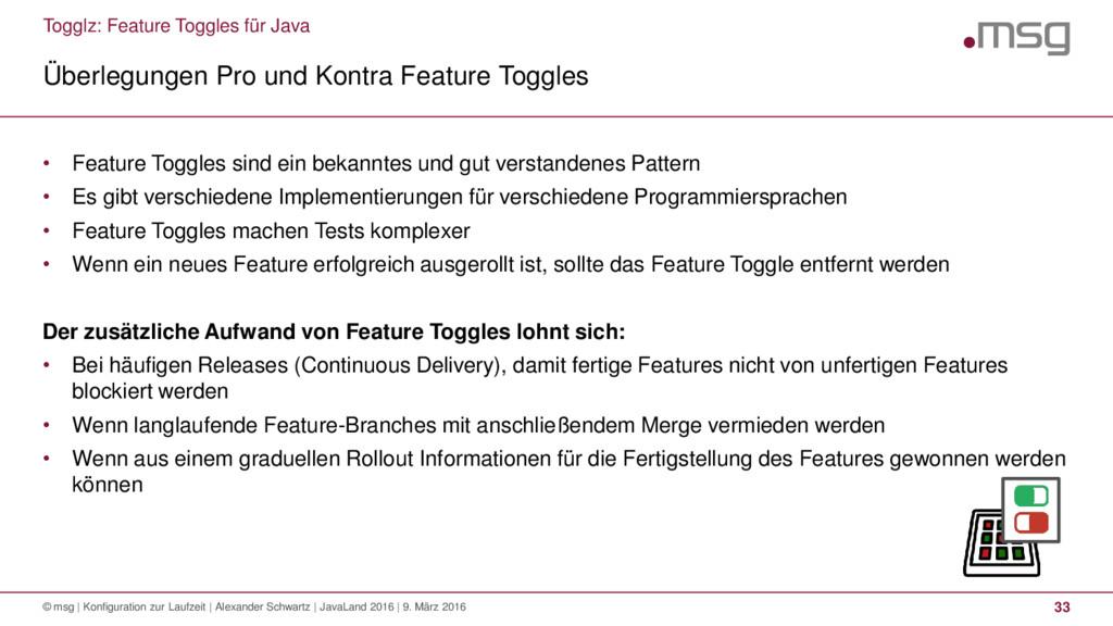 Togglz: Feature Toggles für Java Überlegungen P...