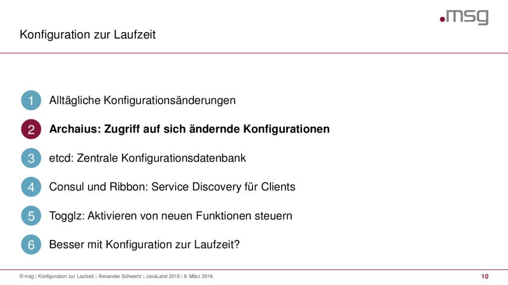 Konfiguration zur Laufzeit © msg | Konfiguratio...