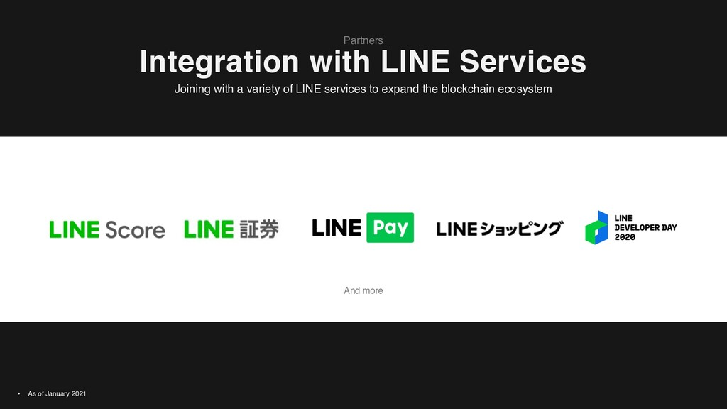 And more Integration with LINE Services Partner...
