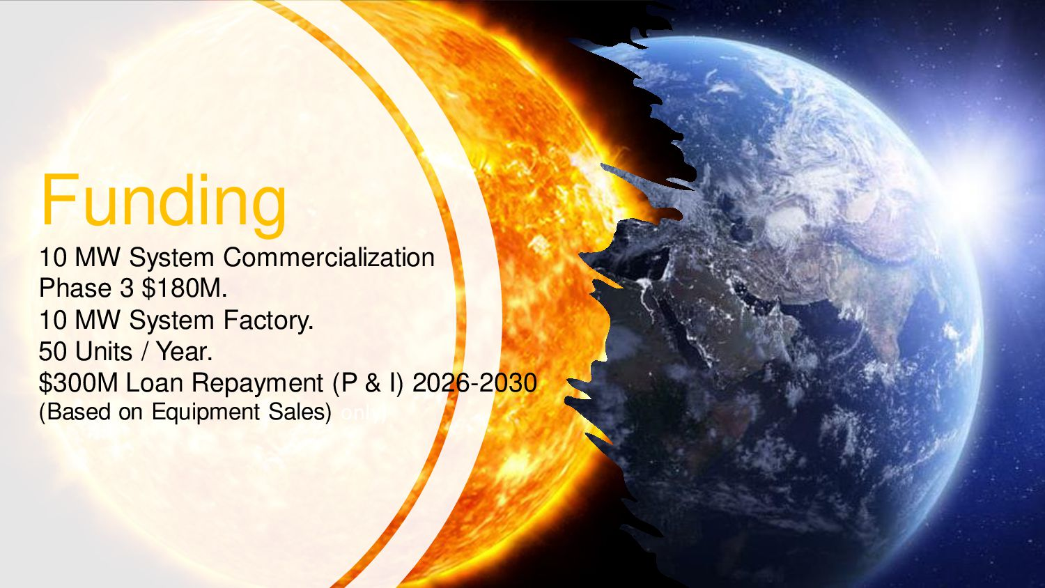 Funding 10 MW System Commercialization Phase 3 ...