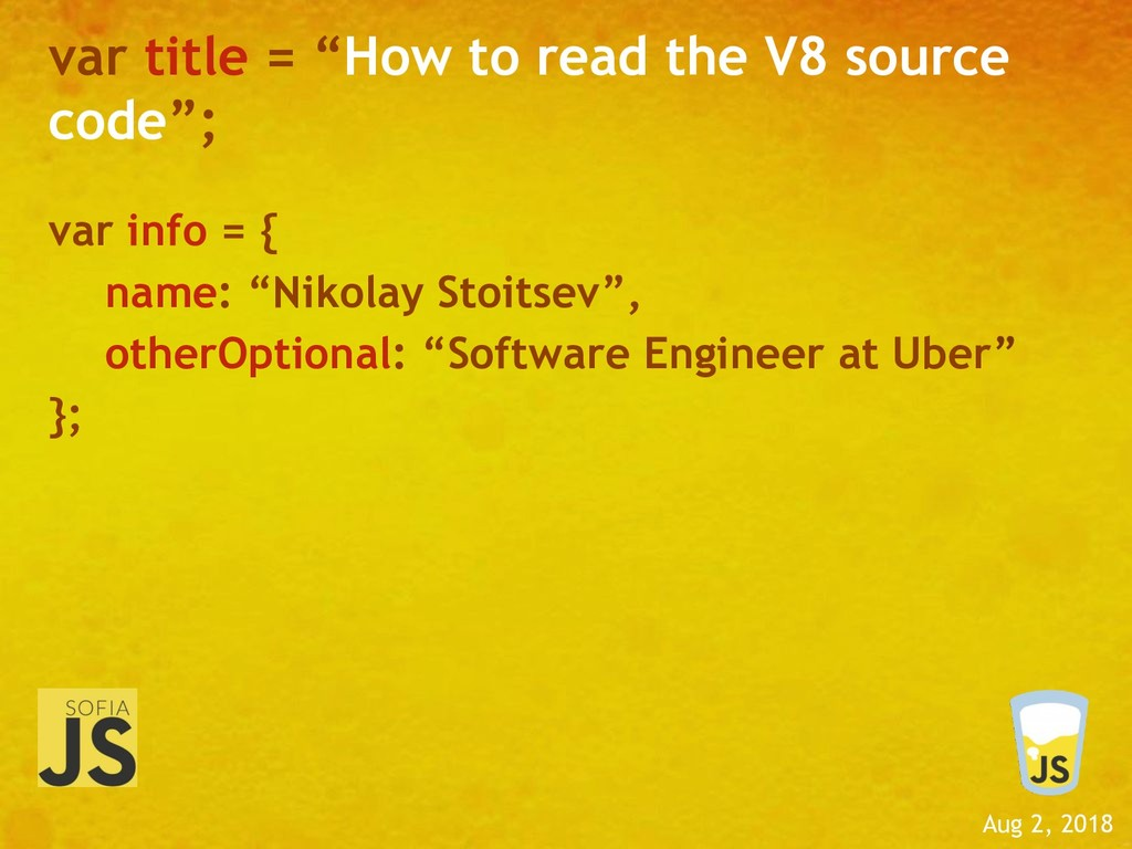 """Aug 2, 2018 var title = """"How to read the V8 sou..."""