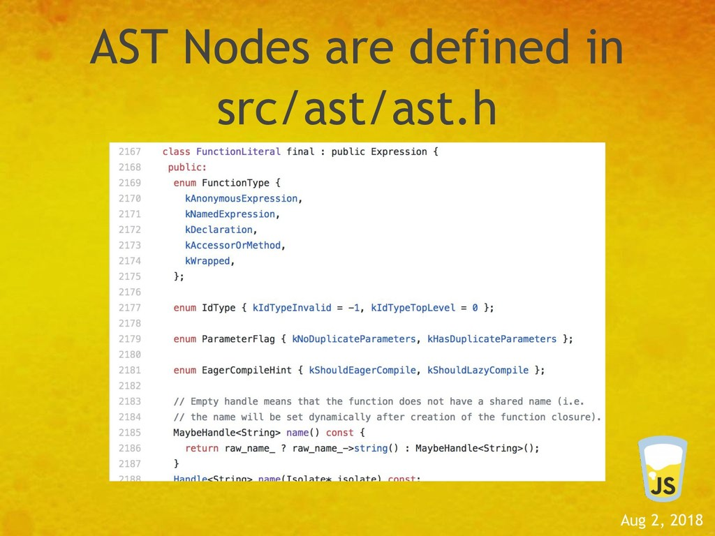 Aug 2, 2018 AST Nodes are defined in src/ast/as...