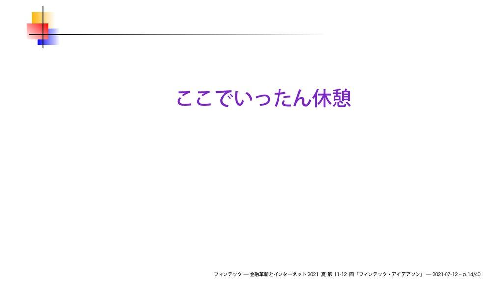 — 2021 11-12 — 2021-07-12 – p.14/40