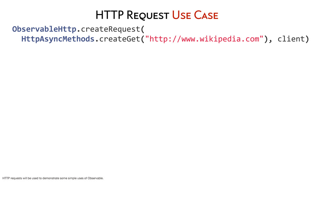 HTTP Request Use Case 	