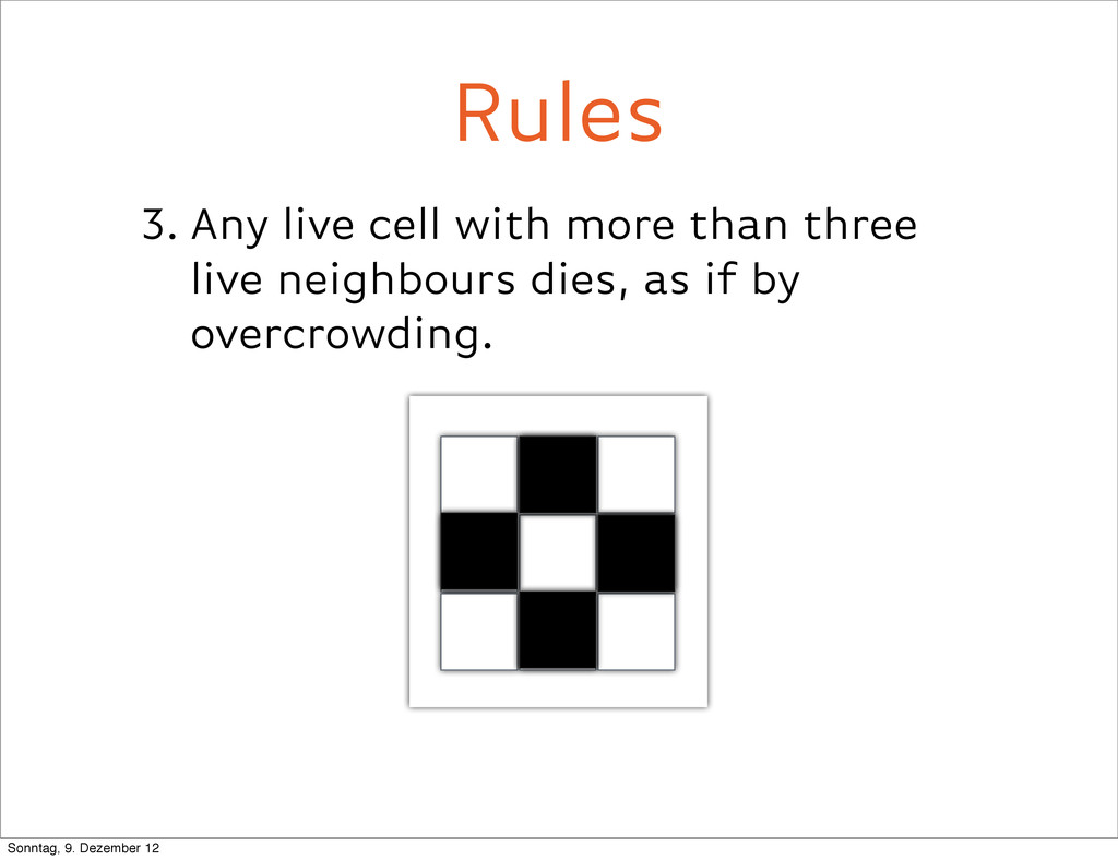 3. Any live cell with more than three live neig...