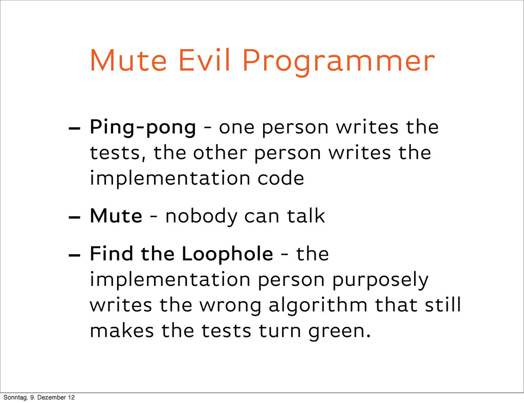 Mute Evil Programmer - Ping-pong - one person w...