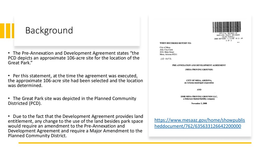 Background • The Pre-Annexation and Development...