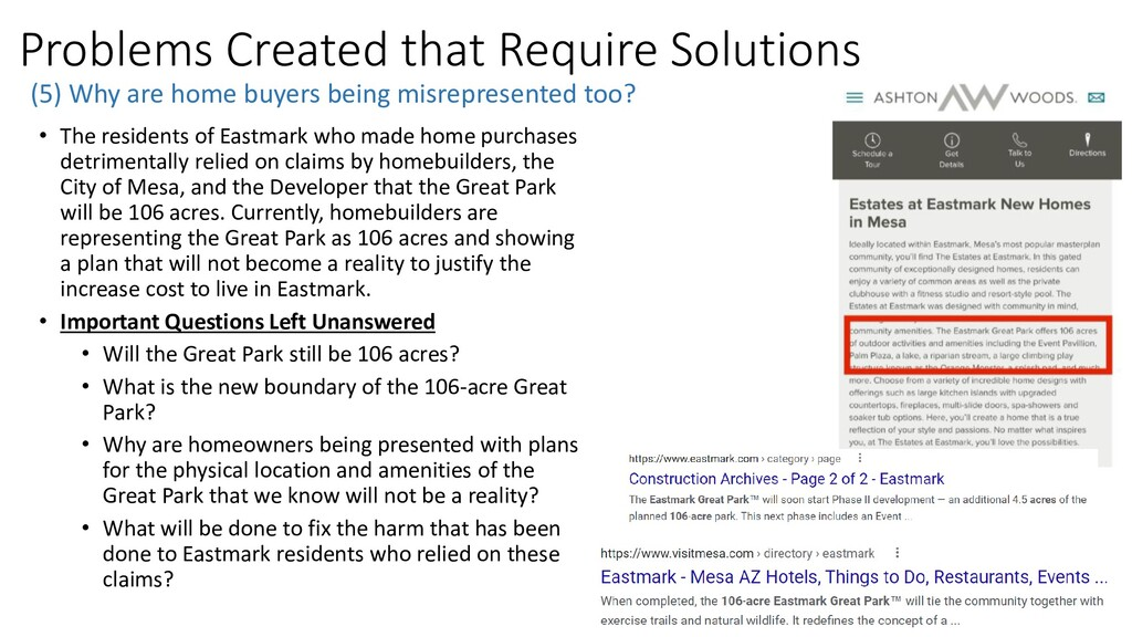 Problems Created that Require Solutions (5) Why...