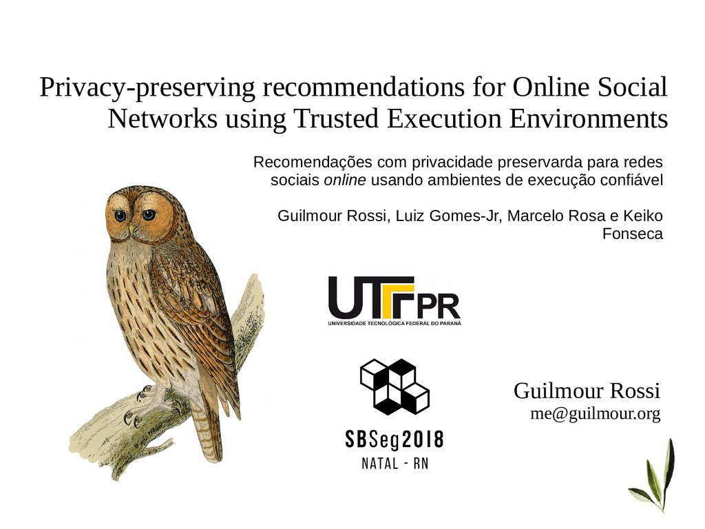 Privacy-preserving recommendations for Online S...