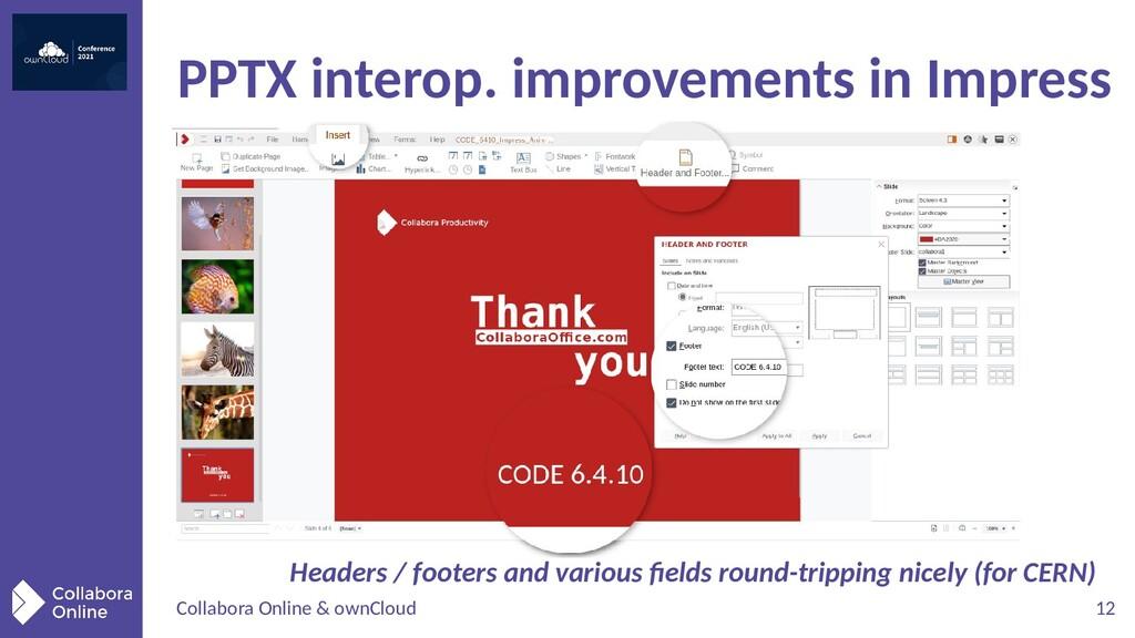 Collabora Online & ownCloud 12 PPTX interop. im...