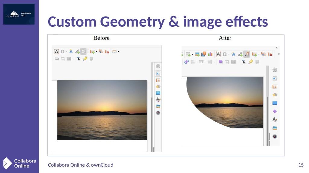 Collabora Online & ownCloud 15 Custom Geometry ...