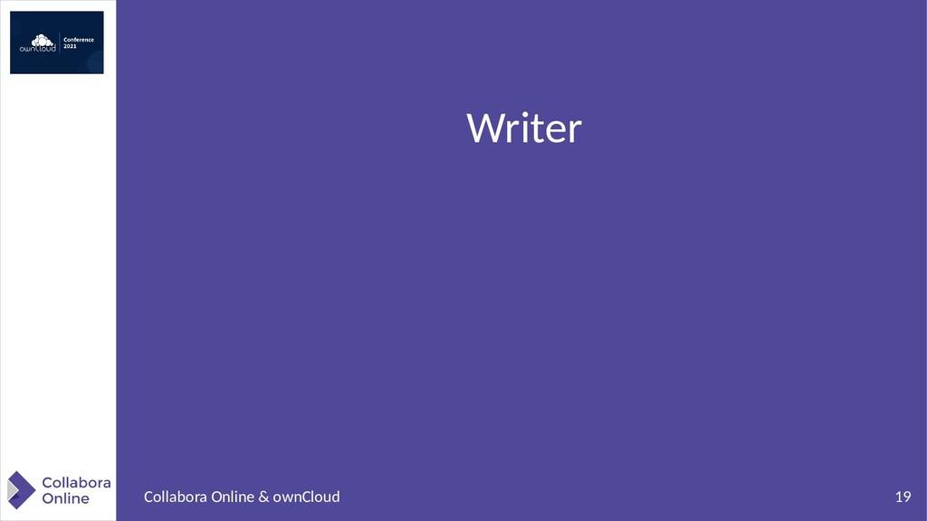 19 Collabora Online & ownCloud Writer