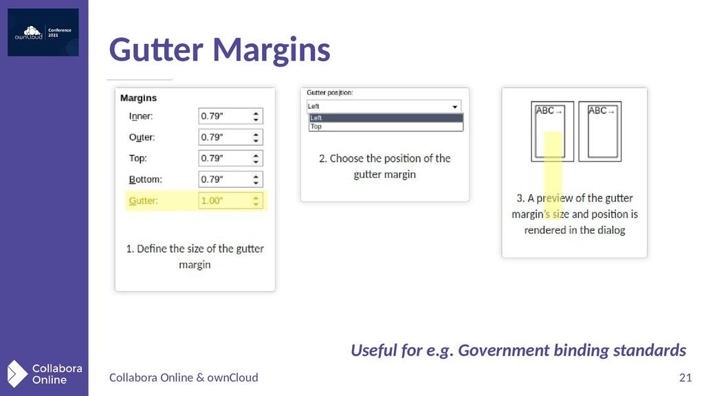 Collabora Online & ownCloud 21 Gutter Margins U...