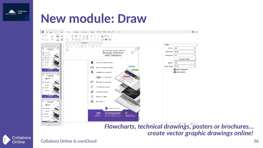 Collabora Online & ownCloud 36 New module: Draw...