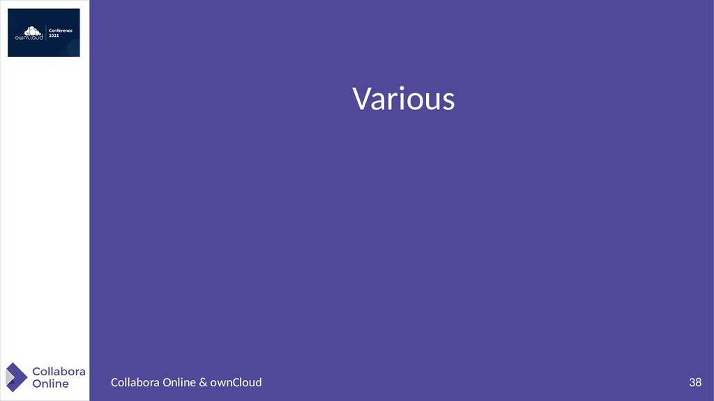38 Collabora Online & ownCloud Various