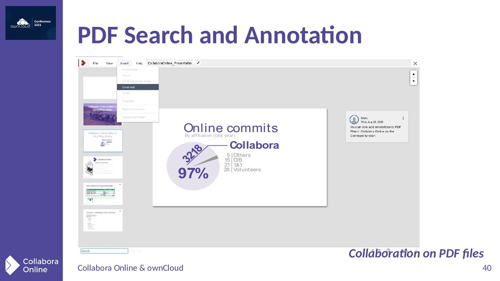 Collabora Online & ownCloud 40 PDF Search and A...
