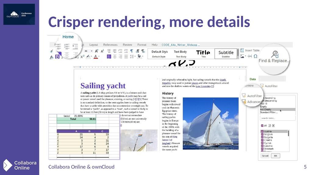 Collabora Online & ownCloud 5 Crisper rendering...