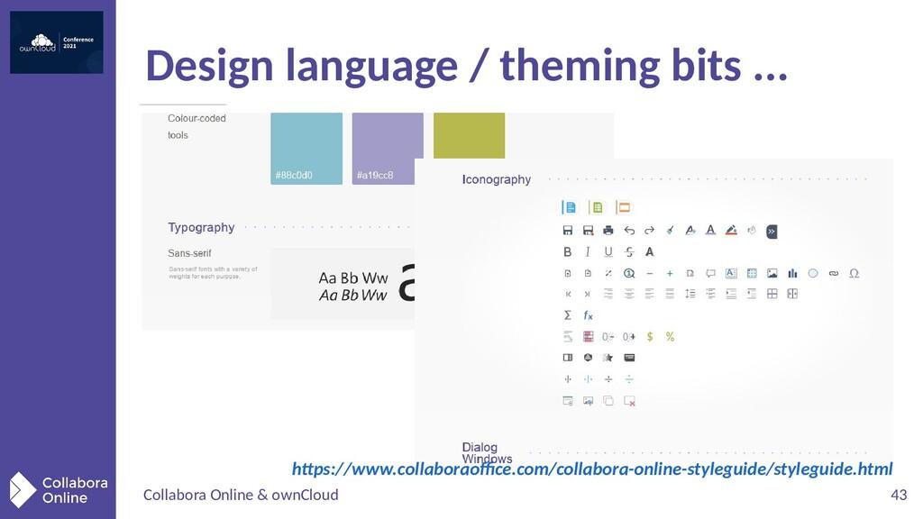 Collabora Online & ownCloud 43 Design language ...