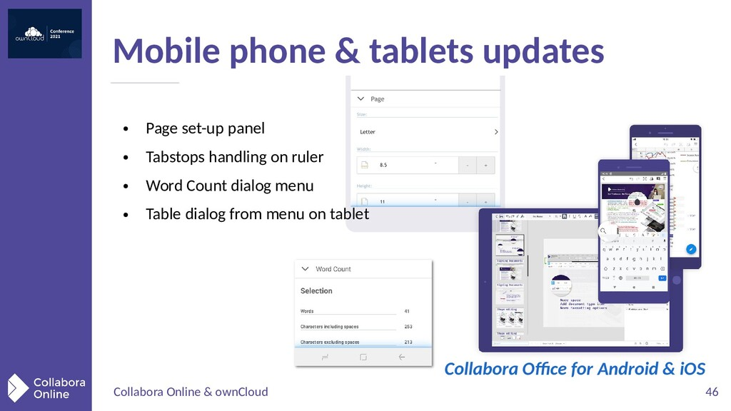 Collabora Online & ownCloud 46 Mobile phone & t...