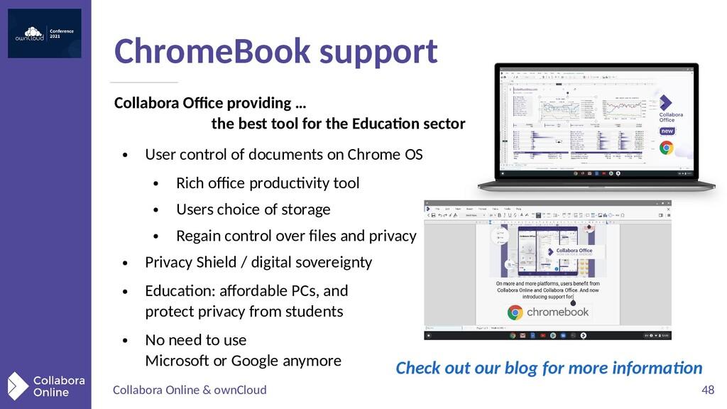Collabora Online & ownCloud 48 ChromeBook suppo...