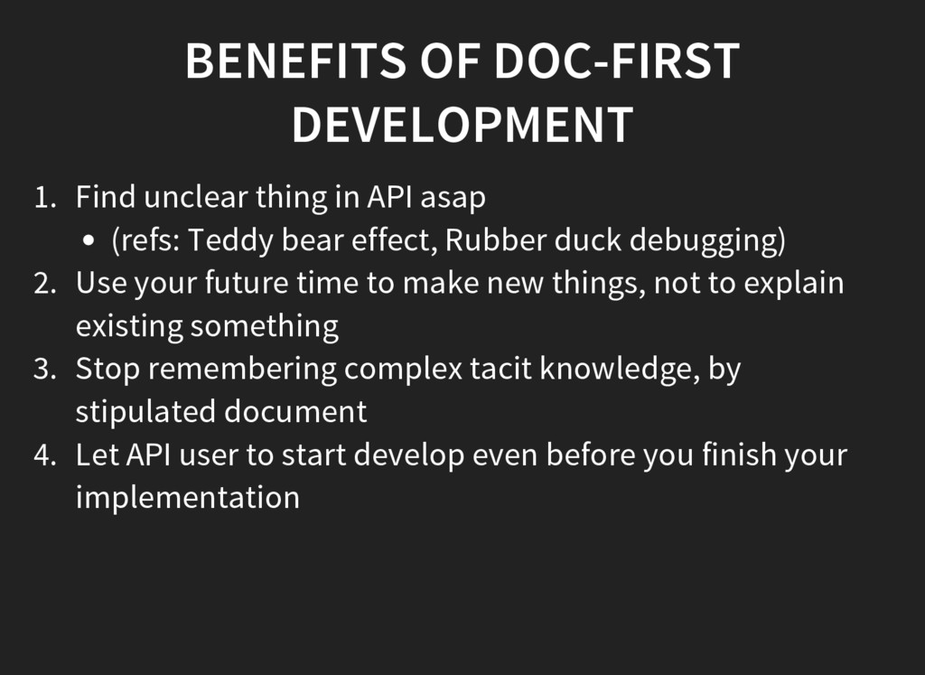 BENEFITS OF DOC-FIRST DEVELOPMENT 1. Find uncle...