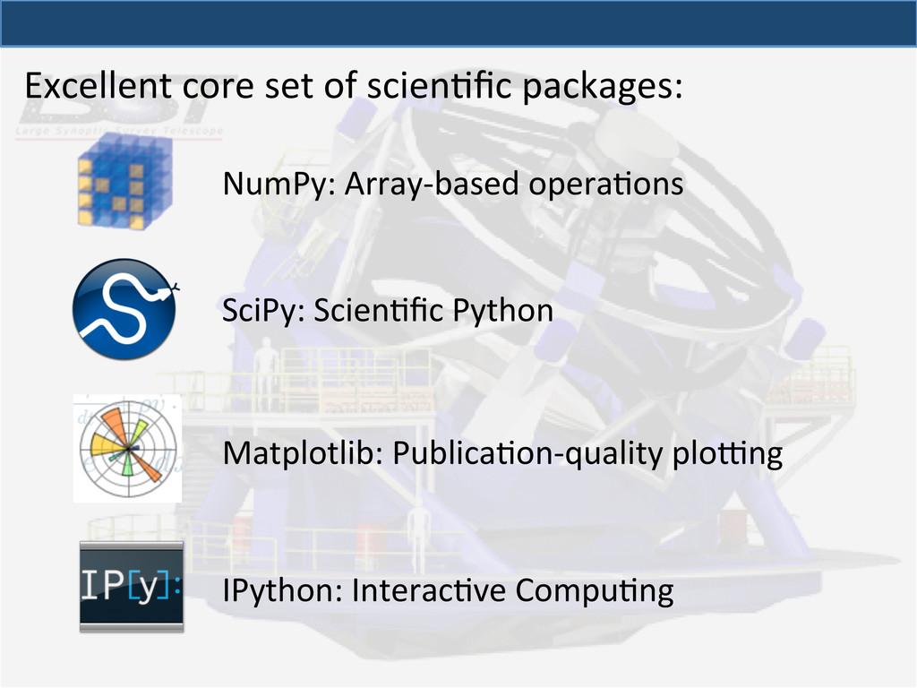 Excellent core set of scienQfic p...