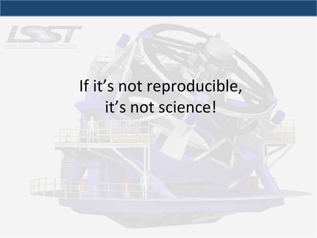 If it's not reproducible,  it's ...