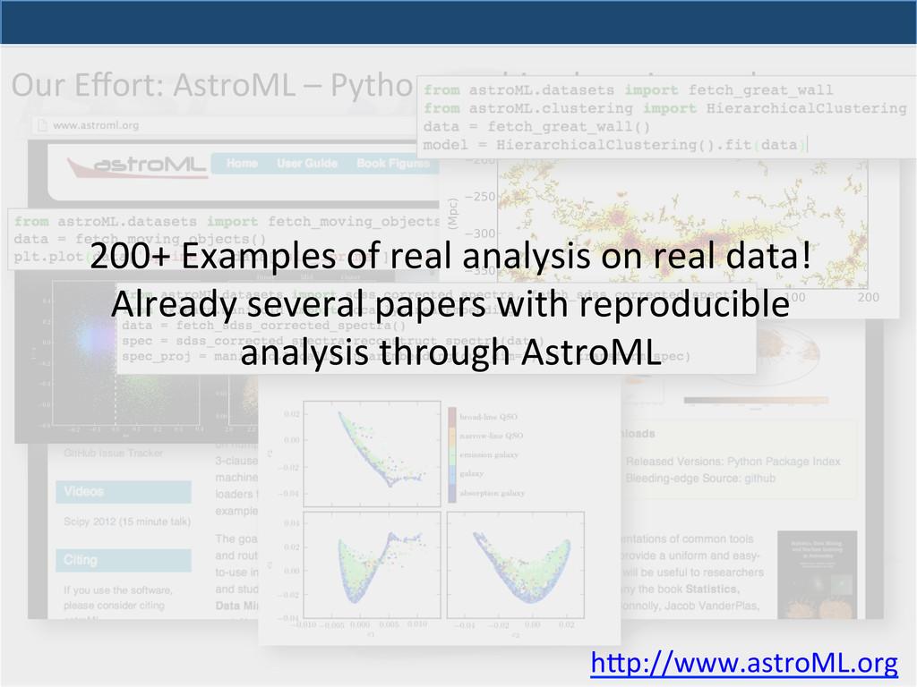 Our Effort: AstroML – Python mach...