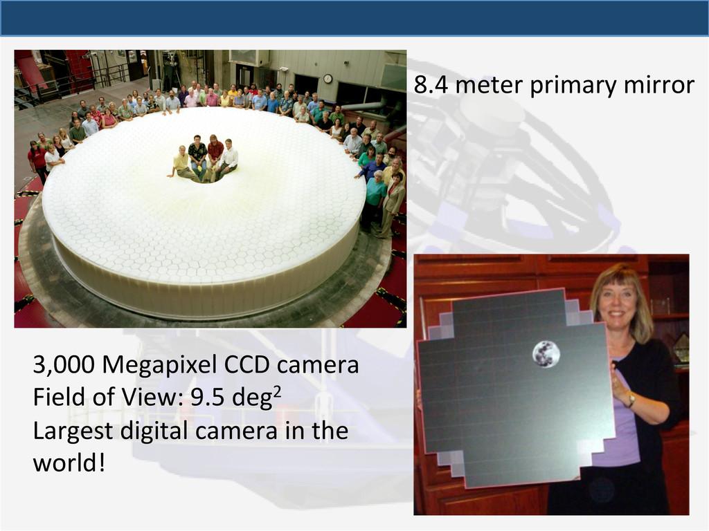 8.4 meter primary mirror  3,000 ...