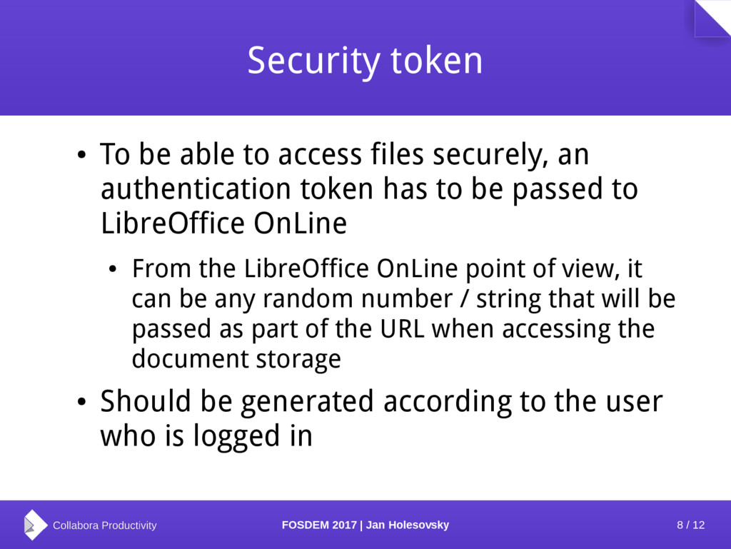 8 / 12 FOSDEM 2017 | Jan Holesovsky Security to...