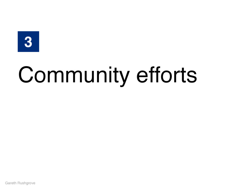Gareth Rushgrove 3 Community efforts
