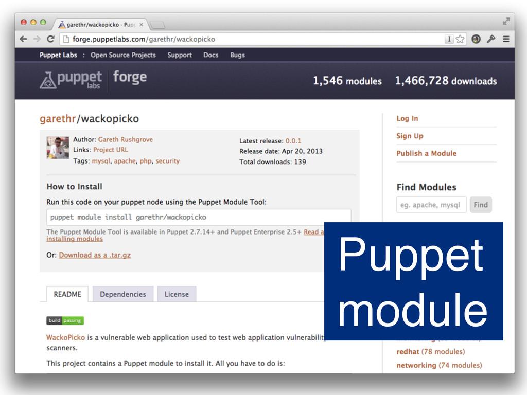 Puppet module