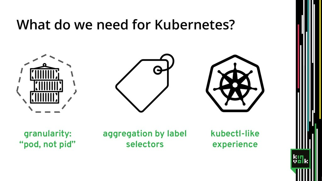 "What do we need for Kubernetes? granularity: ""p..."