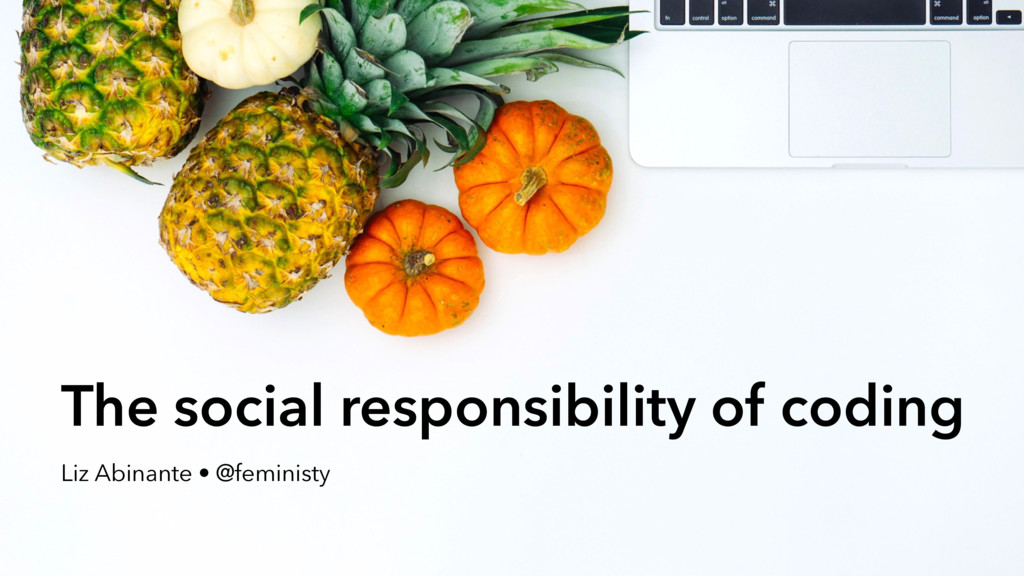 The social responsibility of coding Liz Abinant...